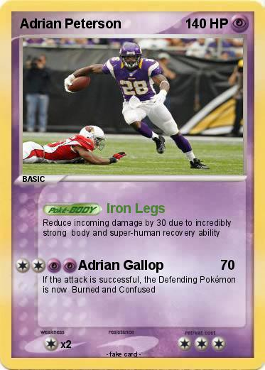 Pokemon Adrian Peterson