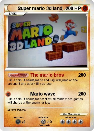 Pokemon Super mario 3d land