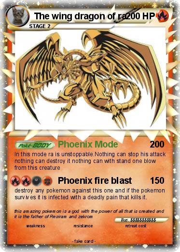 Pokemon The wing dragon of ra