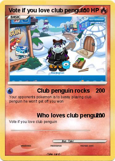 Pokemon Vote if you love club penguin