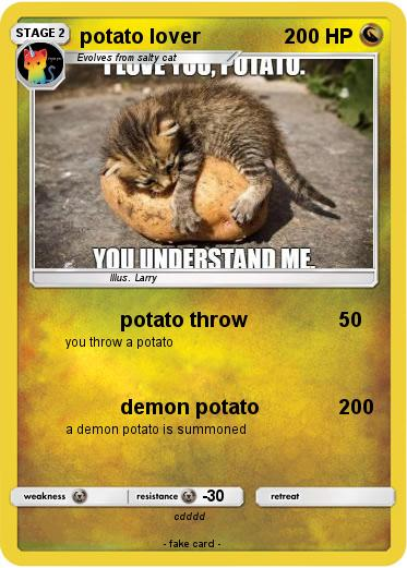 Pokemon potato lover