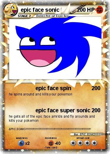 Pokemon epic face sonic