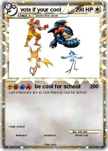 Pokemon vote if your cool
