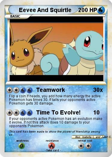 Pokemon Eevee And Squirtle