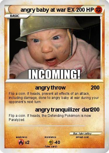 Pokemon angry baby at war EX