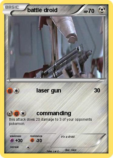Pokemon battle droid