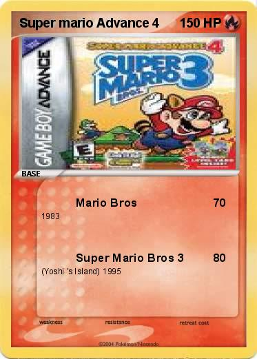 Pokemon Super mario Advance 4