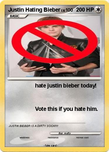 Pokemon Justin Hating Bieber