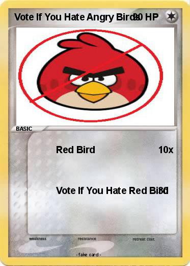 Pokemon Vote If You Hate Angry Birds