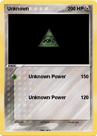 Pokemon Unknown