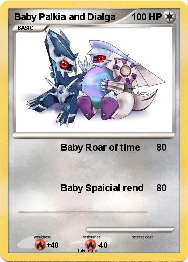 Pokemon Baby Palkia and Dialga