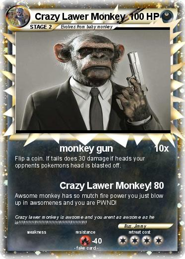 Pokemon Crazy Lawer Monkey