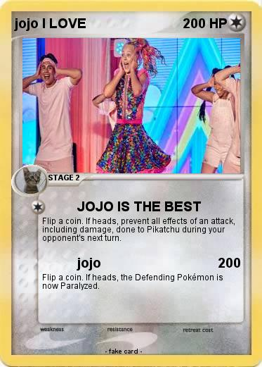 Pokemon jojo I LOVE