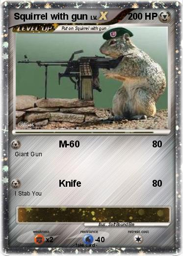Pokemon Squirrel with gun