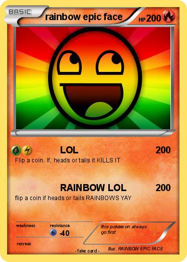 Pokemon rainbow epic face