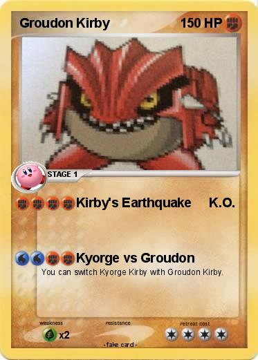 Pokemon Groudon Kirby