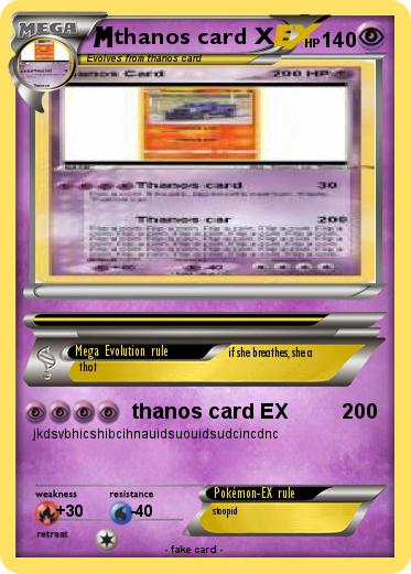 Pokemon thanos card X