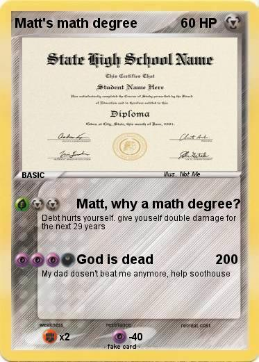 Pokemon Matt's math degree