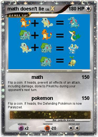 Pokemon math doesn't lie