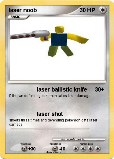 Pokemon laser noob