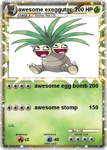 Pokemon awesome exeggutor