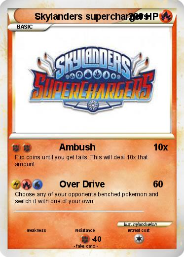 Pokemon Skylanders superchargers