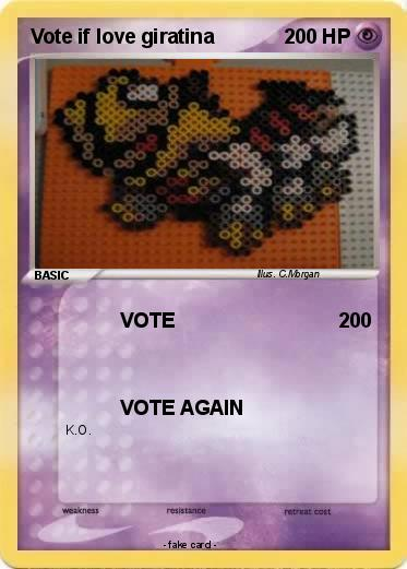 Pokemon Vote if love giratina