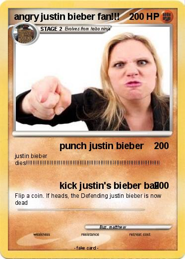 Pokemon angry justin bieber fan!!!