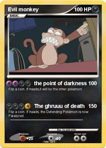 Pokemon Evil monkey