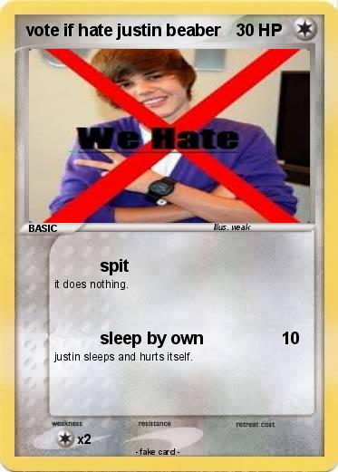 Pokemon vote if hate justin beaber