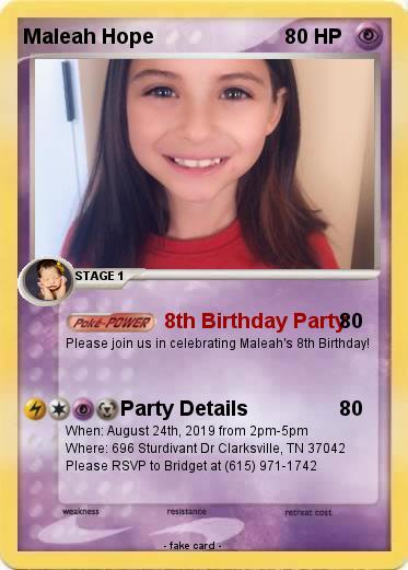 Pokemon Maleah Hope