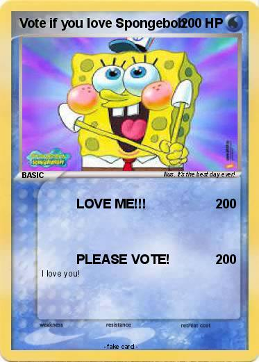 Pokemon Vote if you love Spongebob
