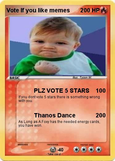 Pokemon Vote If you like memes