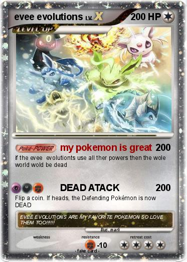 Pokemon evee evolutions