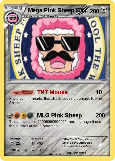 Pokemon Mega Pink Sheep EX