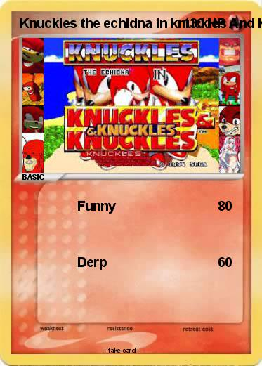 Pokemon Knuckles the echidna in knuckles And Knuckles Knuckles