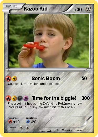 Pokemon Kazoo Kid