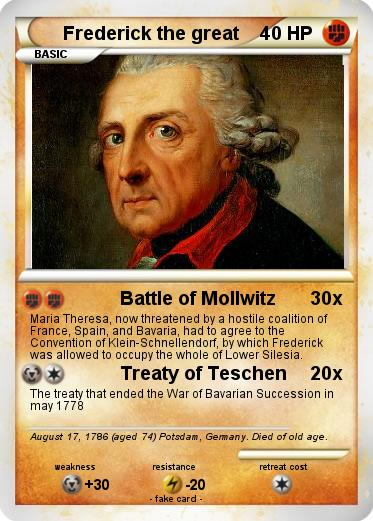 Pokemon Frederick the great