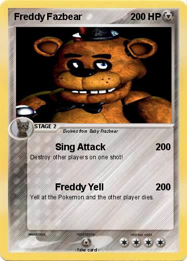 Pokemon Freddy Fazbear