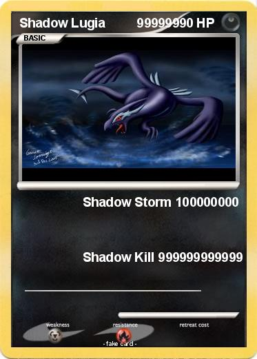 Pokemon Shadow Lugia         999999