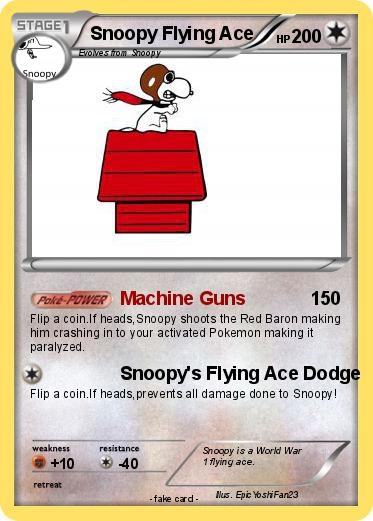 Pokemon Snoopy Flying Ace