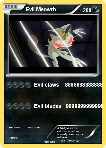 Pokemon Evil Meowth