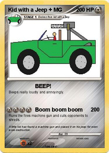 Pokemon Kid with a Jeep + MG