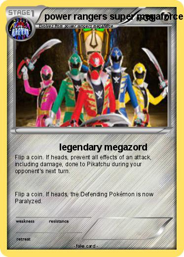 Pokemon power rangers super megaforce