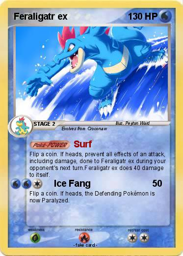 Pokemon Feraligatr ex