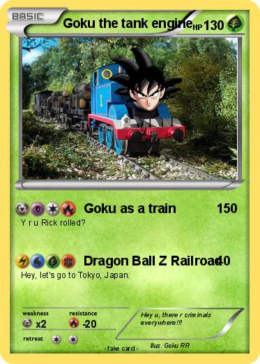 Pokemon Goku the tank engine