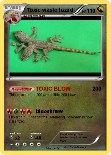 Pokemon Toxic waste lizard
