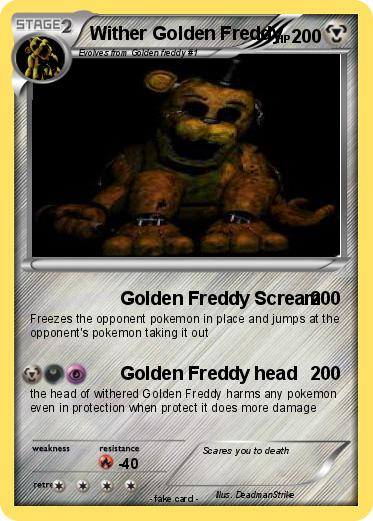 Pokemon Wither Golden Freddy