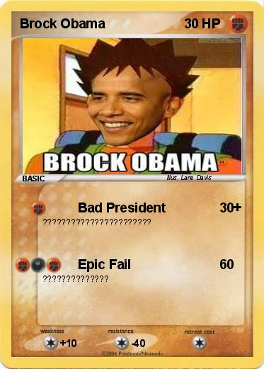 Pokemon Brock Obama