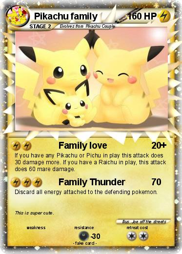 Pokemon Pikachu family